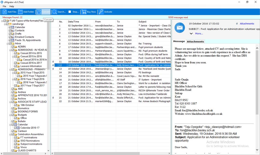 Zimbra Email to PDF Converter - Export Zimbra TGZ to PDF
